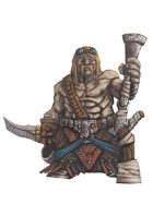RPG Fantasy Character, Male, Dwarf Warrior