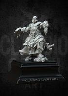 RPG fantasy Character, Male, Half Orc Barbarian STL