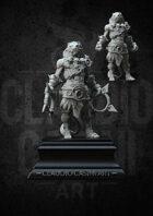 RPG fantasy Character, Male, Lionfolk Monk STL
