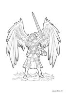 RPG Fantasy Character, female, angelic warrior L