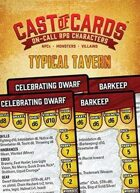 Cast of Cards: Typical Tavern (Fantasy)