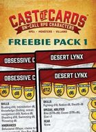 Cast of Cards: Freebie Pack 1 (Fantasy)