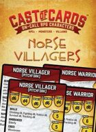 Cast of Cards: Norse Villagers (Fantasy)