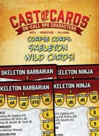 Cast of Cards: Corpse Corps: Skeleton Wild Cards (Fantasy)