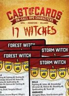 Cast of Cards: 17 Witches (Fantasy)