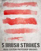 Five Brush Strokes (Photoshop)
