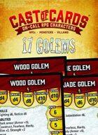 Cast of Cards: 17 Golems (Fantasy)