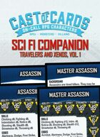 Cast of Cards: Science Fiction Companion, Travelers and Xenos, Vol. 1