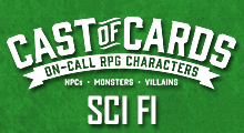 Cast of Cards: Sci Fi