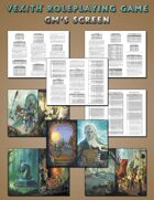 Vexith Roleplaying Game GM Screen