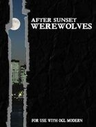 After Sunset -- Werewolves