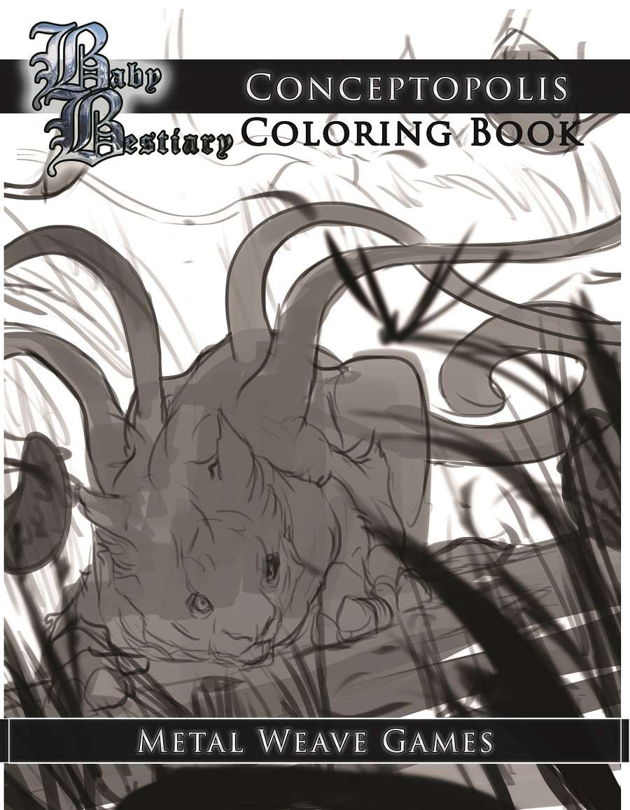 Baby Bestiary Coloring Book