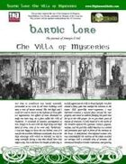 Bardic Lore: The Villa of Mysteries