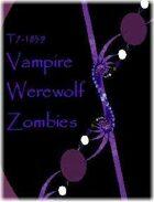 T7-1839 Vampire Werewolf Zombies