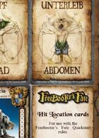 Freebooter's Fate Quickstart Game Cards English Version