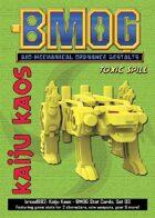 Kaiju Kaos: BMOG Stat Cards, Set 03 (Toxic Spill)