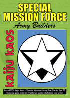 Kaiju Kaos - Special Mission Force Stat Cards, Set 02