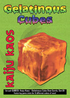 Kaiju Kaos: Gelatinous Cubes Stat Cards, Set 01
