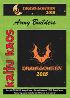 Kaiju Kaos: Drawlloween 2018 Stat Cards