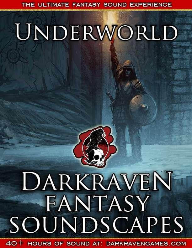 F/UW06 - General Dungeon Movement With Nearby Activity - Underworld - Darkraven RPG Soundscape