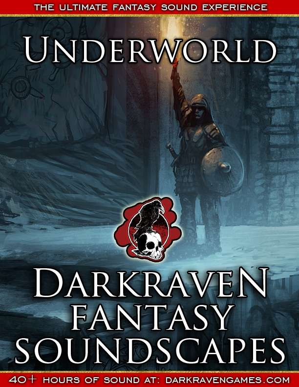 F/UW09 - Overnighting In A Dungeon - With Distant Activity - Underworld - Darkraven RPG Soundscape
