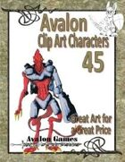 Avalon Clip Art Characters, Alien 8