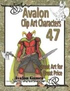 Avalon Clip Art Characters, Dark Warrior 2