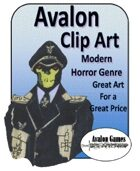 Avalon Clip Art, Modern Horror