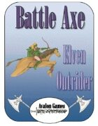 Battle Axe Elven Outrider