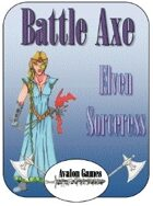 Battle Axe Elven Sorceress