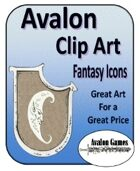 Avalon Clip Art, Fantasy Icons