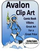 Avalon Clip Art Sets, Comic Book Villains