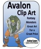 Avalon Clip Art, Monsters