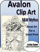 Avalon Clip Art Sets, B&W Mythos