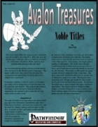 Avalon Treasure, Vol 1, Issue #3 Noble Title