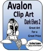 Avalon Clip Art Sets, Dark Elves 2