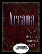 Arcana Journal #23