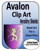 Avalon Clip Art Sets, Heraldry Shields
