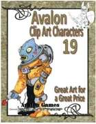 Avalon Clip Art Characters, Alien 2