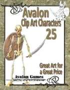 Avalon Clip Art Characters, Skeleton