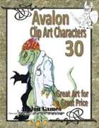 Avalon Clip Art Characters, Alien 4