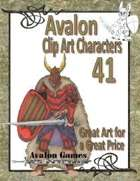 Avalon Clip Art Characters, Dark Warrior 1