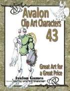 Avalon Clip Art Characters, Alien 7