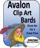Avalon Clip Art, Bards