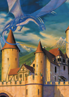 Larry Elmore's Blue Dragon Poker Deck