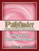 Pathfinder Summon Monster Cards