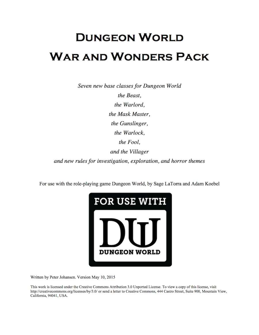 Dungeon World War and Wonders Pack