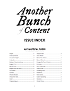 Another Bunch of Content Issue Index