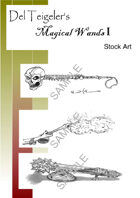 Del Teigeler's Magic Wands Stock Art