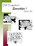 Del Teigeler's Spaceships I Stock Art